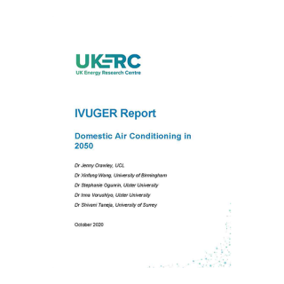 Cover of report: Domestic Air Conditioning in 2050