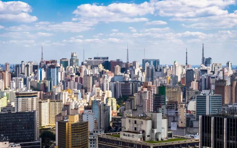 Panorama of buildings in Rio