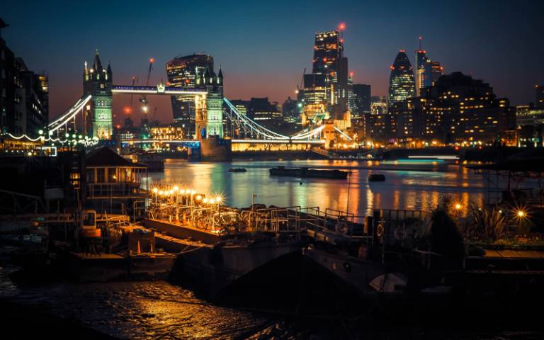 The Thames at night | Photo by Alexander London on Unsplash
