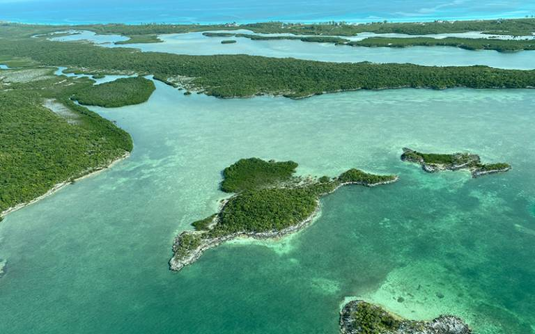 Aerial photograph of The Bahamas