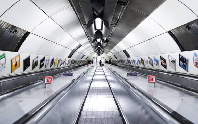 Escalators on the London Underground - Photo by Mona Eendra on Unsplash