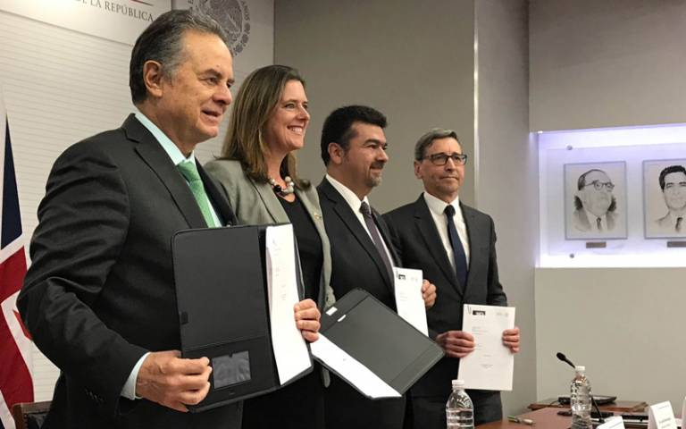 Signing of MOU with representatives from the UK and Mexico