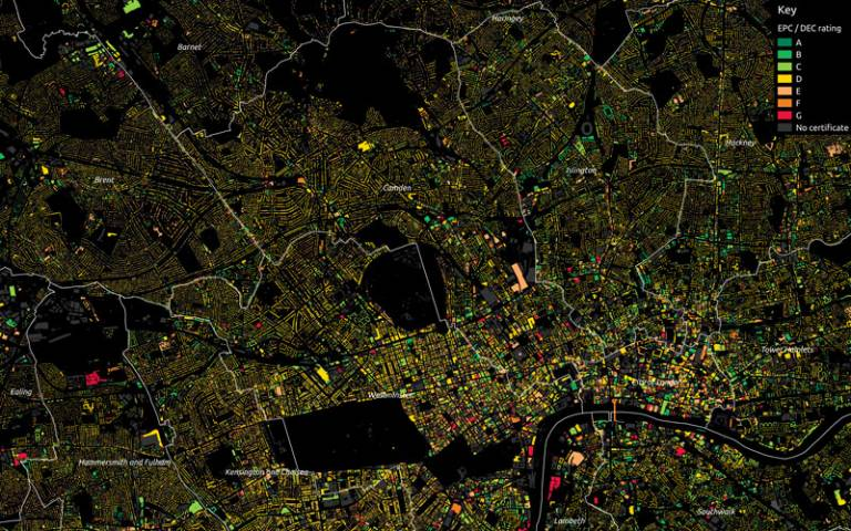 EPC energy performance map of central London