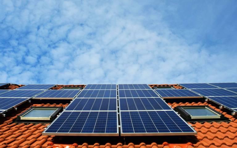 Solar panels on tiled roof - Pixabay