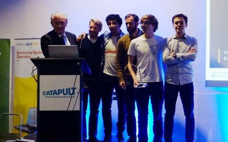 ESDA winning team at the ORE Catapult Hackathon 2019
