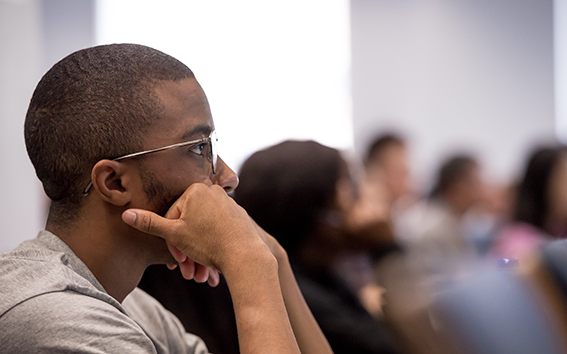 Students in an Economics and Poliy of Energy and the Environment MSc lecture