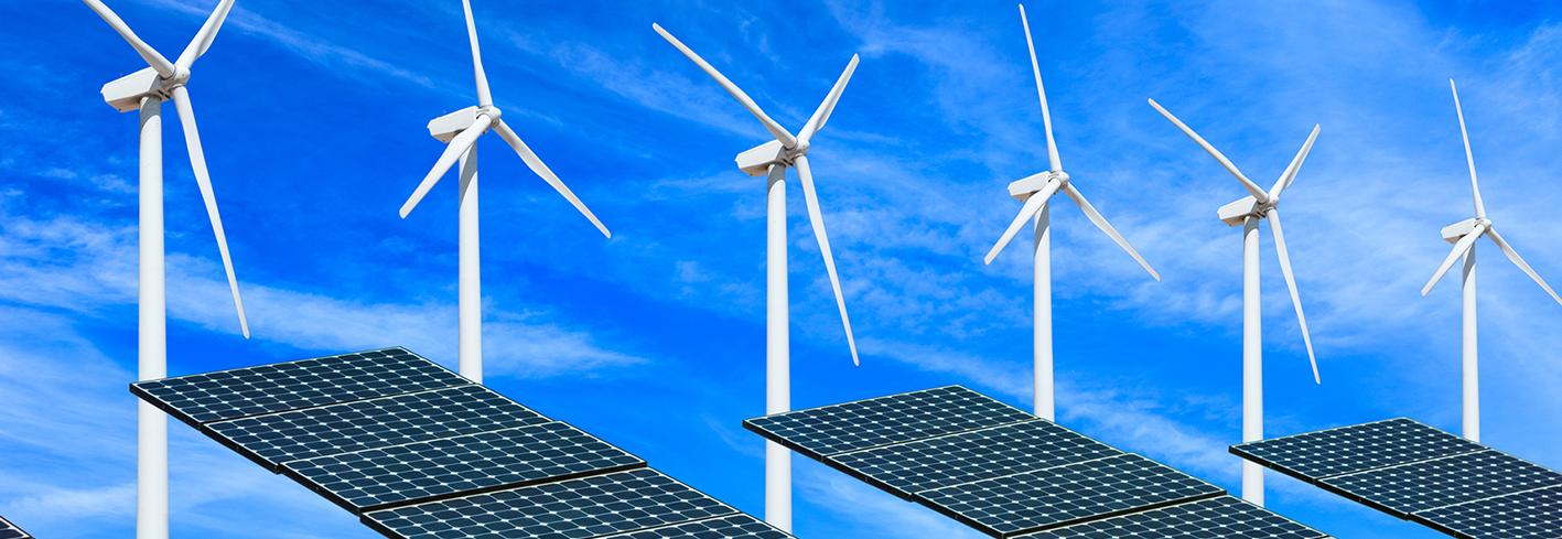 Wind turbines and photovoltaics