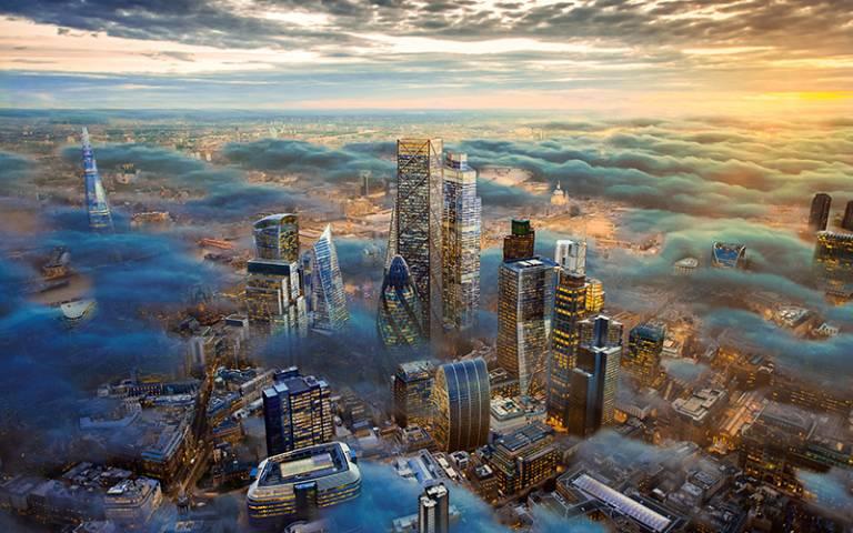Futuristic London skyline