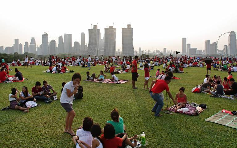 People in park in Singapore