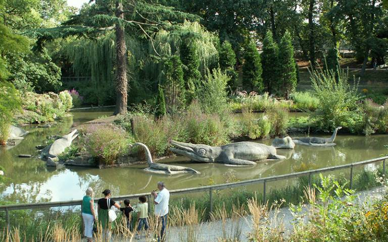 visitor photograph of Crystal Palace Dinosaurs