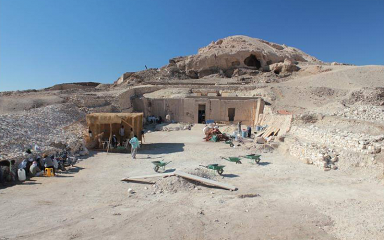 Photo shows the Tomb of Puimra in the archaeological site of El Khokha, Luxor Egypt