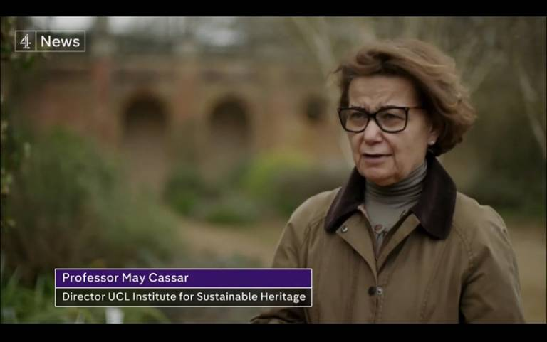 May Cassar speaking to Channel 4 News