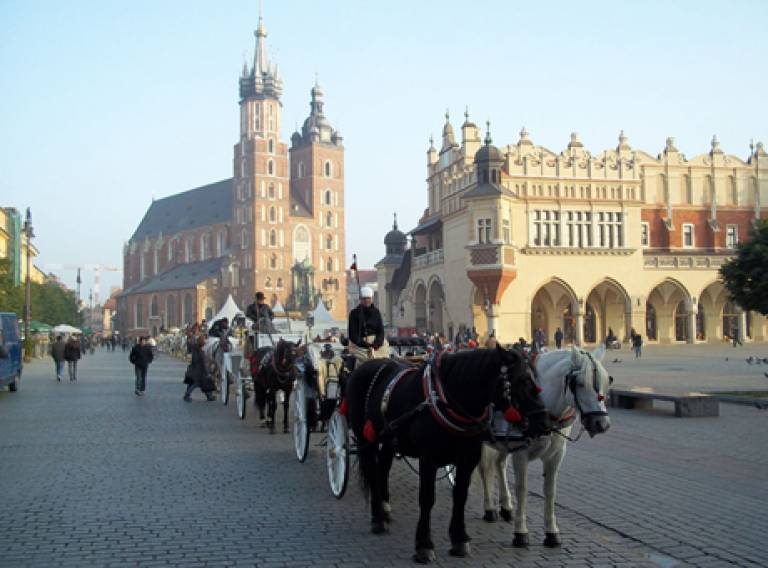 Cracow old town square