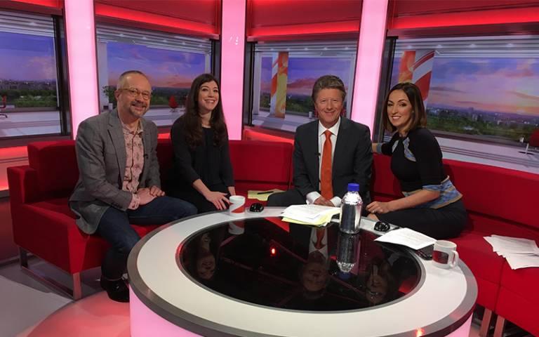 UCL ISH on BBC breakfast