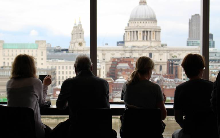 People looking out over st Pauls