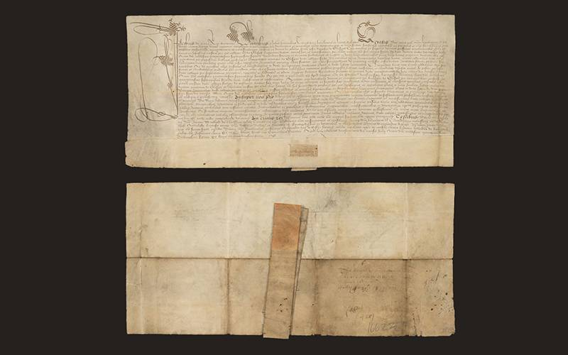 General charter of confirmation by James VI of the rectory and vicarage of Govan (15 July 1587)