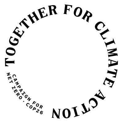 The Bartlett's Together for climate action campaign roundel
