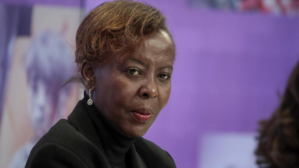 Rwanda's foreign minister Louise Mushikiwabo, pictured here at the World Economic Forum annual meeting in Davos, Switzerland, is one of the women making up 61 per cent of politicians in parliament / Bloomberg