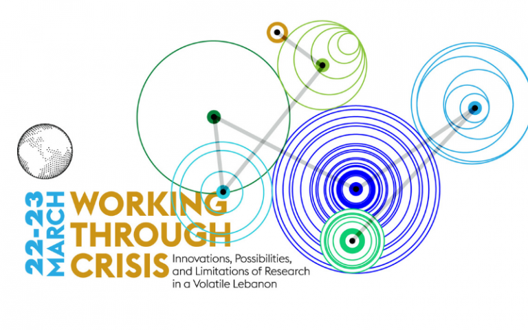 Text- Working through Crisis: Innovations, possibilities and limitations of research in a volatile Lebanon. March 22nd-23rd
