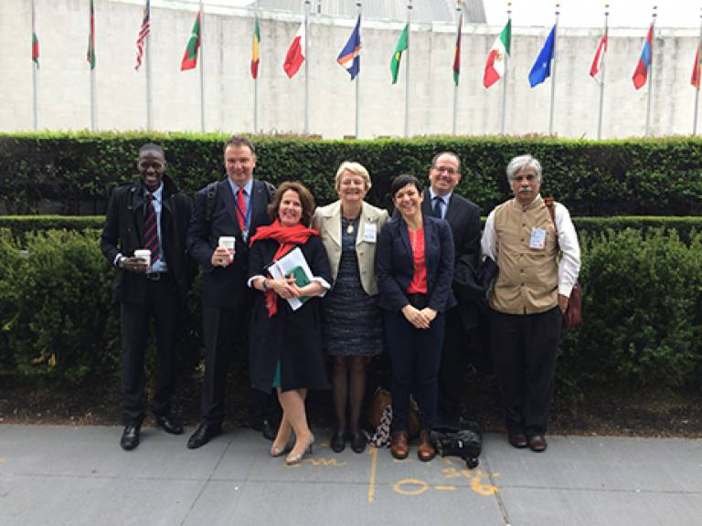 'My Perfect Country' team at the United Nations
