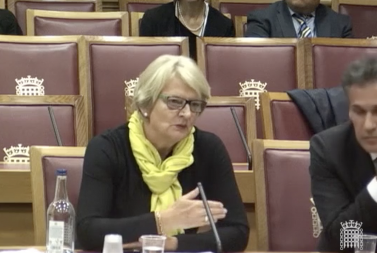 Professor Moore at the House of lords