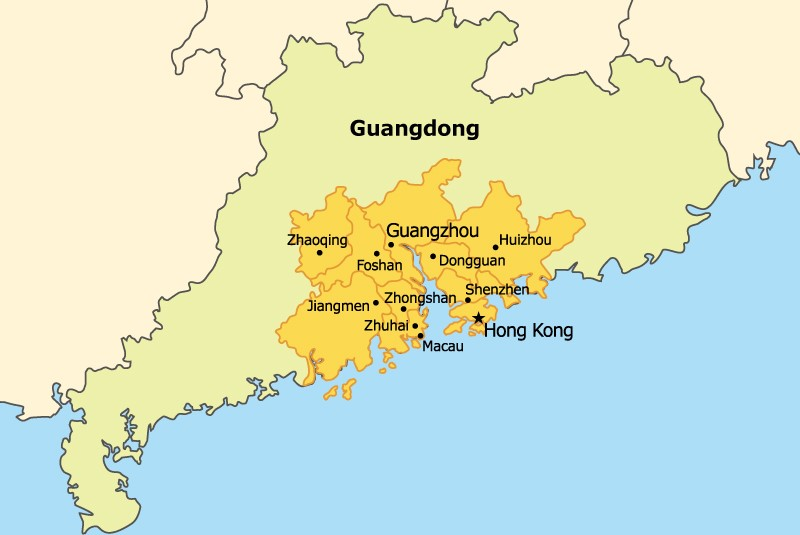 CPRG Event Planning For Megacity Region In China The Bartlett - Zhaoqing map