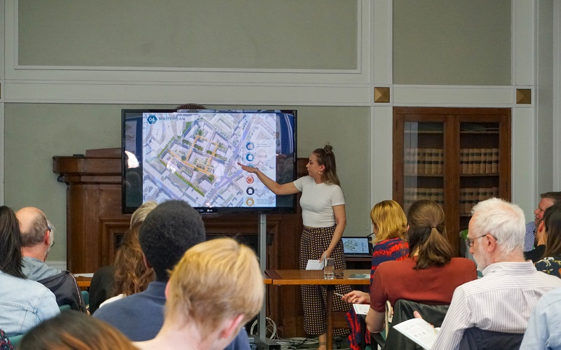 students give urban design presentations on urban design project