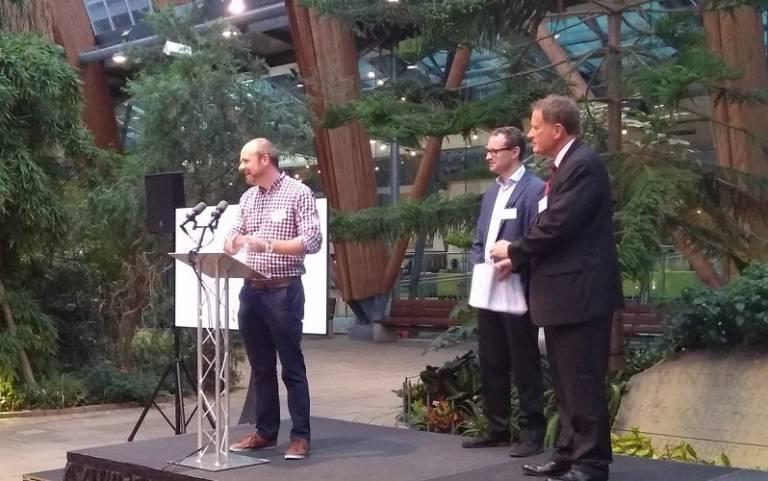 Ben Clifford accepts RTPI award