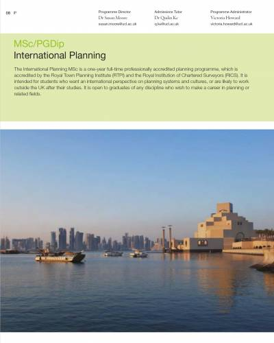 International Planning Masters Course Guide