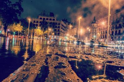 Martin Garcia Chavez's photo of a rain-soaked street