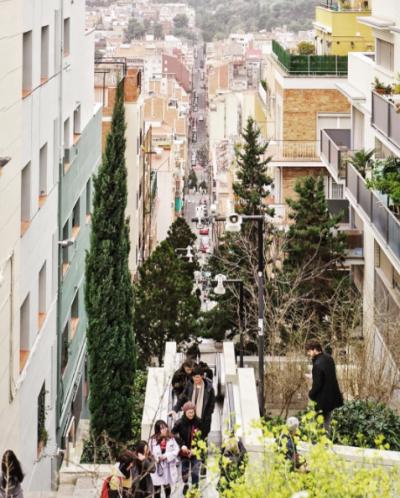Laura Heinritz's image of students ascending to Park Güell
