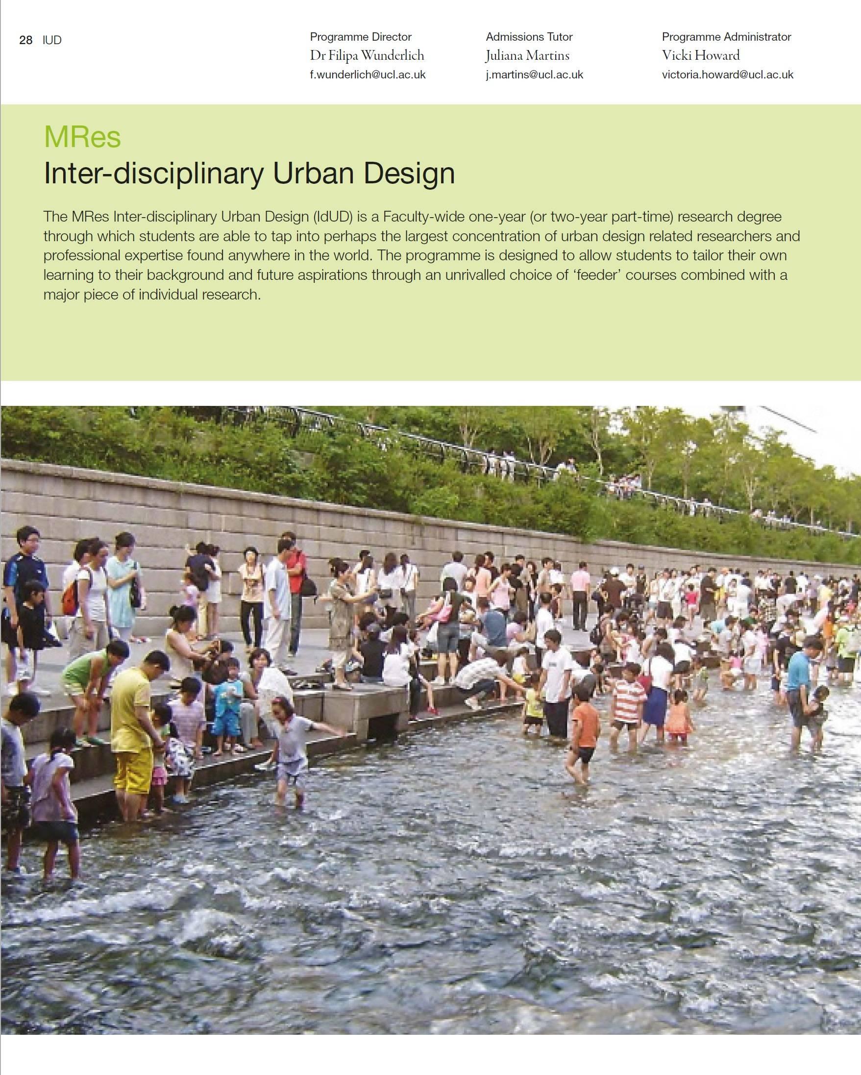 MRes Inter-disciplinary Urban Design | The Bartlett School