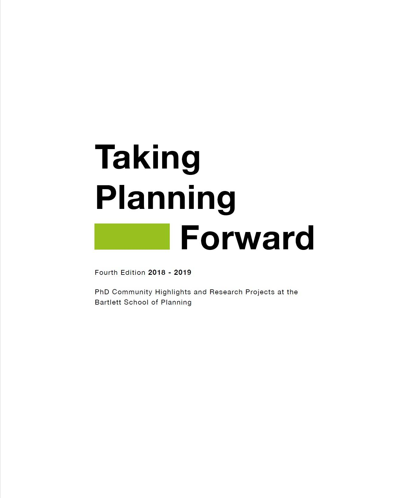 Taking Planning Forward 2018-19 catalogue cover