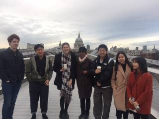 MRes students on the millennium bridge