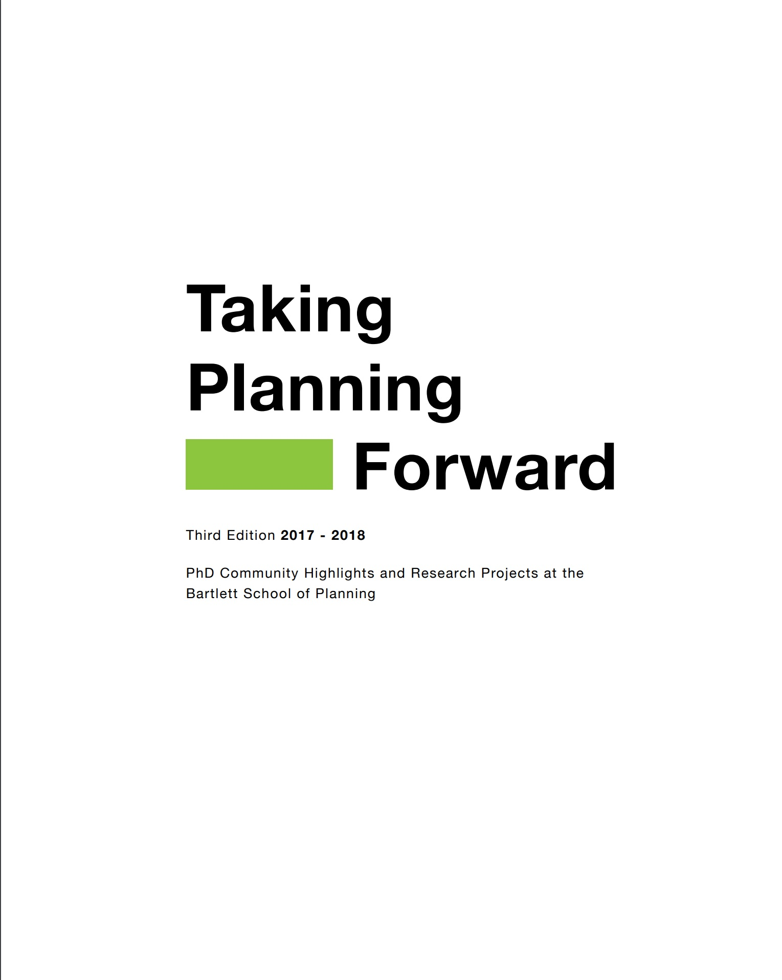 Taking planning forward 3