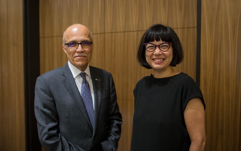 Yasminah Beebeejaun and Ali Madoarres