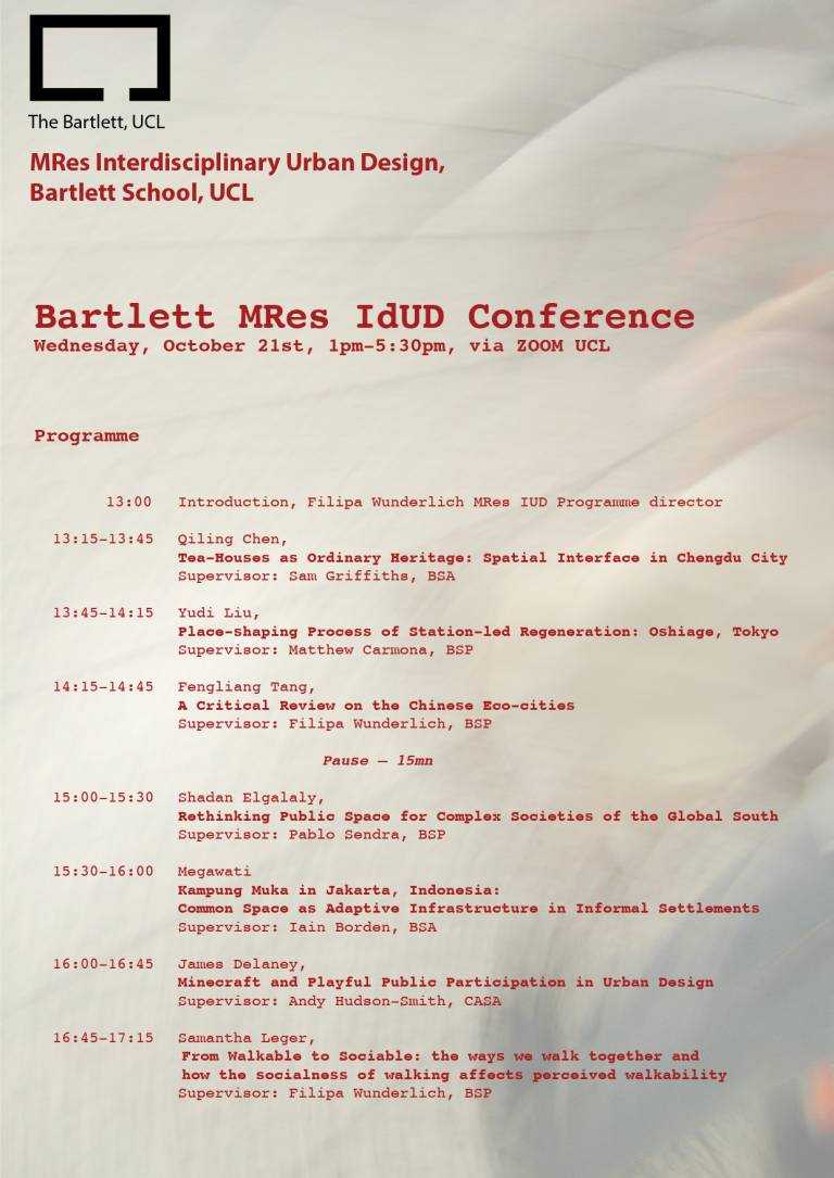 MRes conference