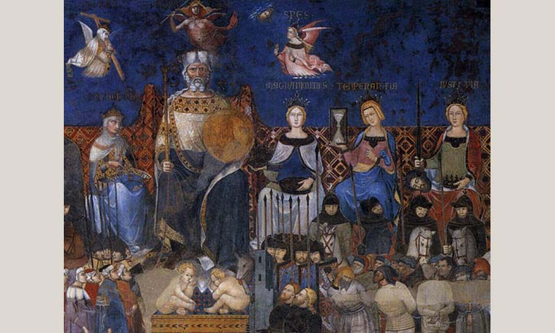 """""""Allegory of Good Government"""" fresco by Lorenzetti. Image: © Public domain"""