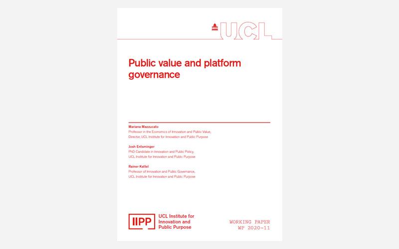 Public value and platform governance