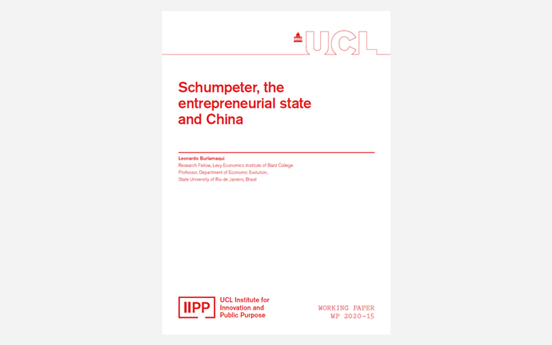 IIPP Working Paper 2020-15 Schumpeter, the entrepreneurial state and China