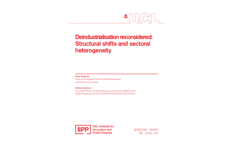 IIPP Working Paper 2020-06: Deindustrialisation reconsidered