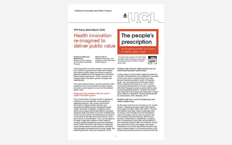 Health innovation re-imagined to deliver public value