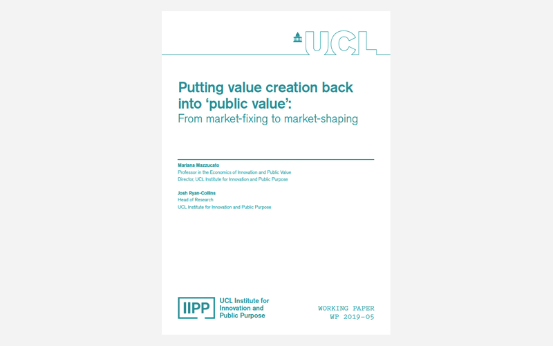 Putting value creation back to public value