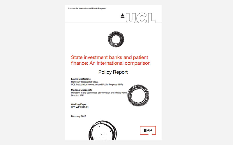 State investment banks and patient finance: An international comparison