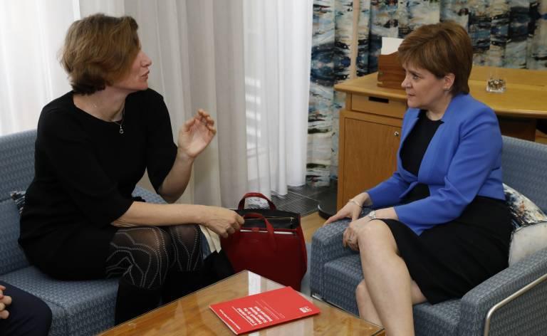 Mariana Mazzucato and Nicola Sturgeon private meeting