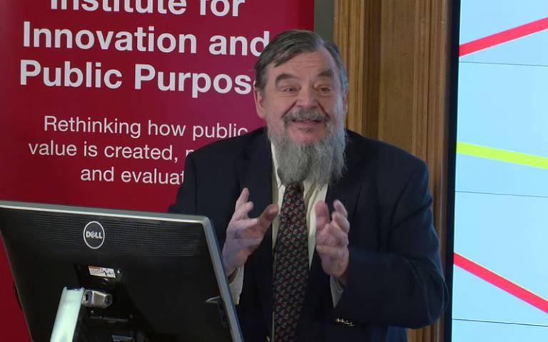 Erik Reinert speaking