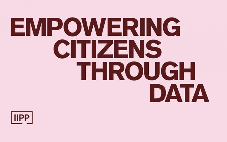 Empowering citizens through data