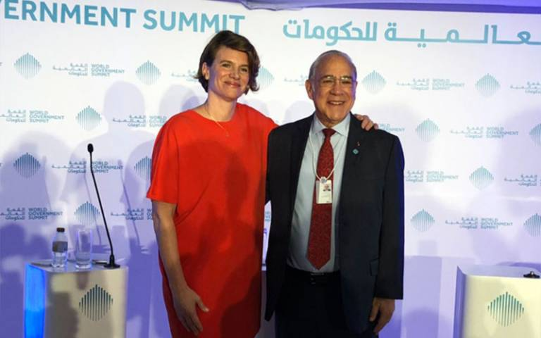 Mariana Mazzucato and Angel Gurria OECD IIPP MOU