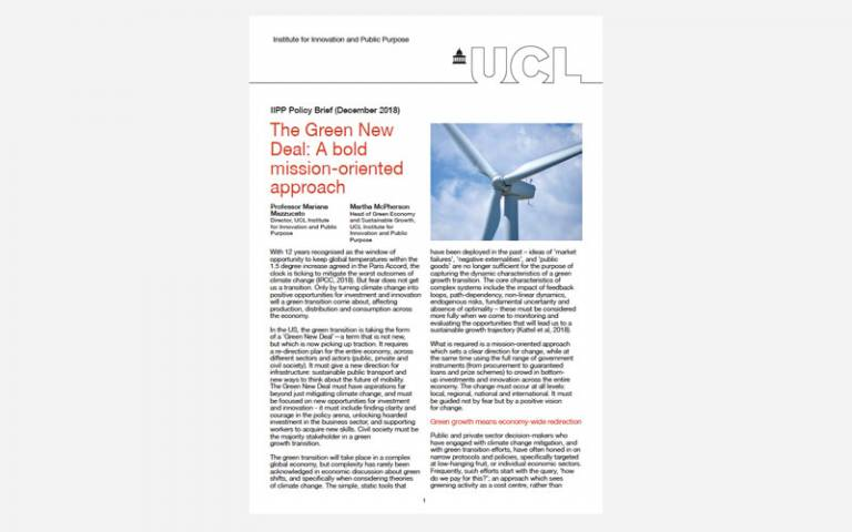 IIPP Brief 04 The Green New Deal: A bold mission-oriented approach