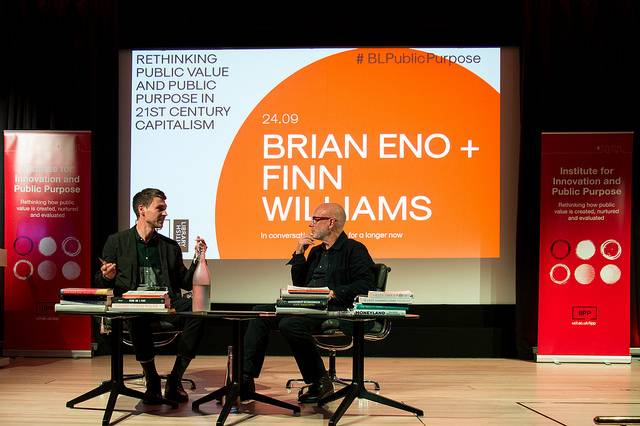 Finn Williams and Brian Eno discuss Planning for a longer now